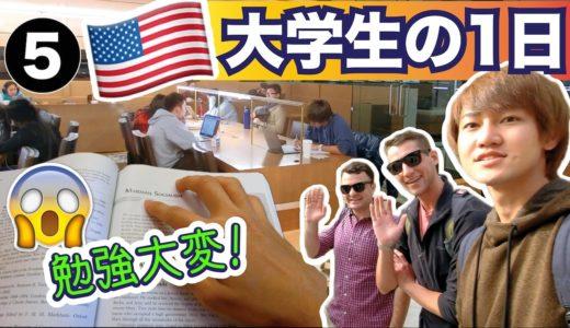 深夜まで勉強漬け😵 アメリカ留学生の忙しい1日!〔#541〕#ちか友留学生活